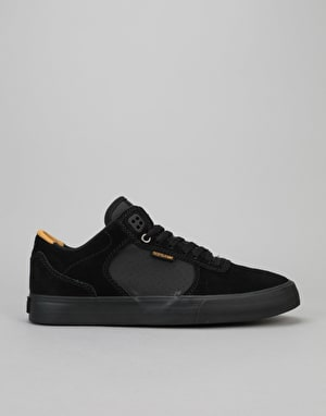 Supra Ellington Vulc Skate Shoes - Black/Amber Gold-Black