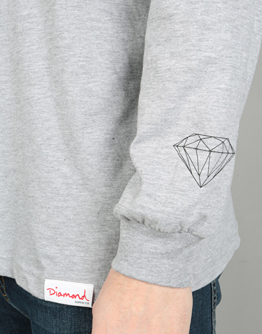Diamond Supply Co. Raceway L/S T-Shirt - Heather Grey