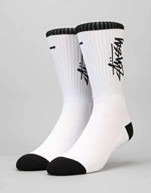 Stüssy Stock Premium Socks - White