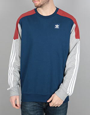 Adidas Nautical Clima Crew - Mystery Read/Blue/ Grey Heather/White