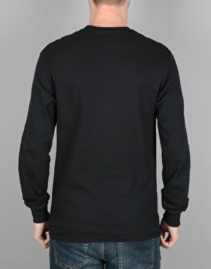 Thrasher Flame Logo L/S T-Shirt - Black