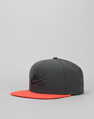 Nike SB Icon Snapback Cap - Anthracite/Max Orange/Black/Anthracite