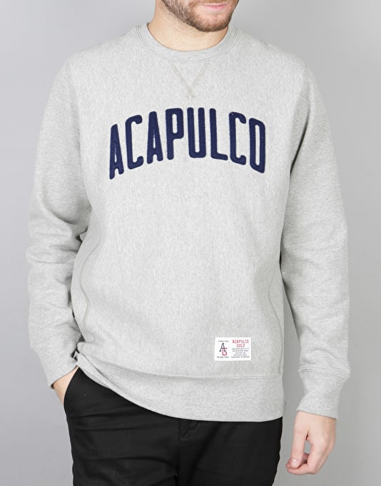 Acapulco Gold Varsity Crewneck Sweatshirt - Heather Grey