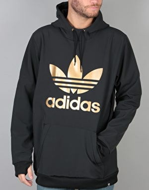 Adidas Team Tech Pullover Hoodie - Black/Tactile Gold Met. F17