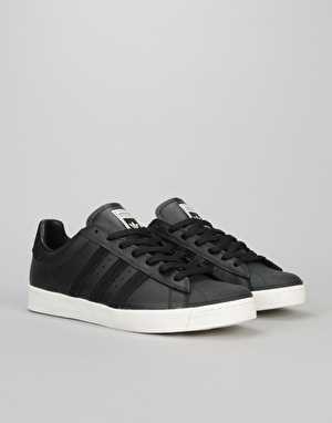 Adidas Superstar Vulc ADV Skate Shoes - Core Black/Core Black/White
