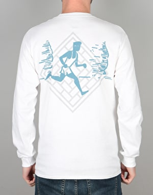 The National Skateboard Co. Action L/S T-Shirt - White