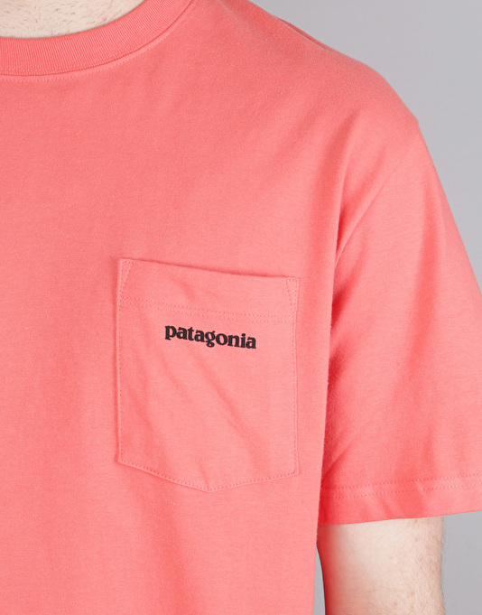 Patagonia P-6 Logo Pocket T-Shirt - Spiced Coral