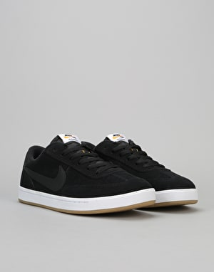 Nike SB FC Classic Low Skate Shoes - Black/Black-Vivid Orange