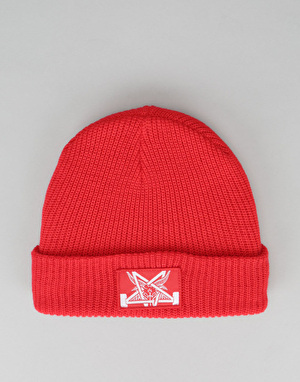 Thrasher Skategoat Zoom Logo Beanie - Red/White
