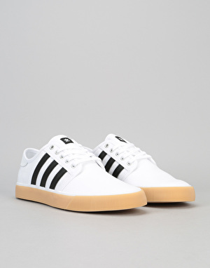 Adidas Seeley Decon Skate Shoes - White/Black/White
