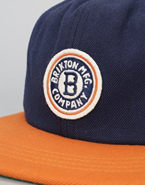 Brixton Louisville Cap - Navy/Orange