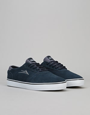 Lakai Manchester Lean Skate Shoes - Navy Suede