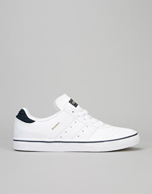 Adidas Busenitz Vulc Skate Shoes - White/Collegiate Navy/White