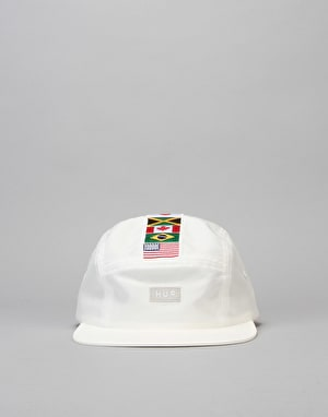 HUF Flags Volley 5 Panel Cap - White