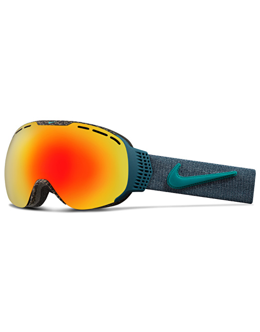 Nike Command 2017 Snowboard Goggles - Tortoise-Rio Teal/Red Ion