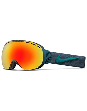 Nike Command 2017 Snowboard Goggles - Tortoise-Team Red/Green Ion
