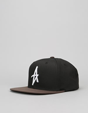 Altamont Decades Snapback Cap - Black/Brown
