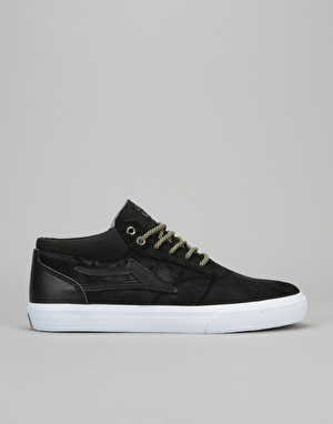 Lakai Griffin Mid AW Skate Shoes - Black Oiled Suede