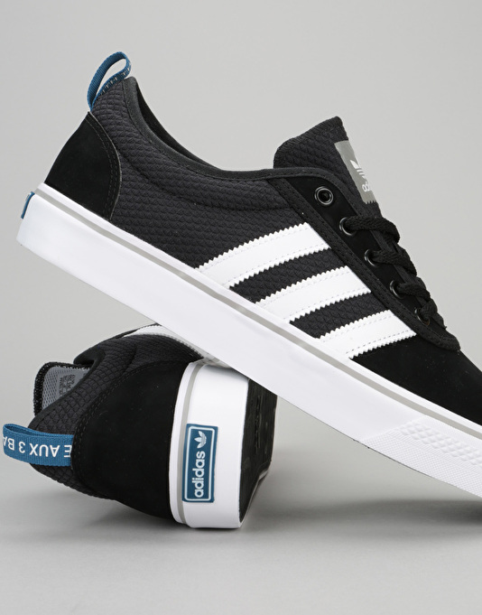 Adidas Adi-Ease Skate Shoes - Core Black/White/Solid Grey