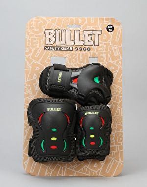 Bullet Junior Triple Padset - Black/Rasta