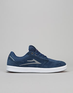 Lakai Linden Skate Shoes - Navy Suede