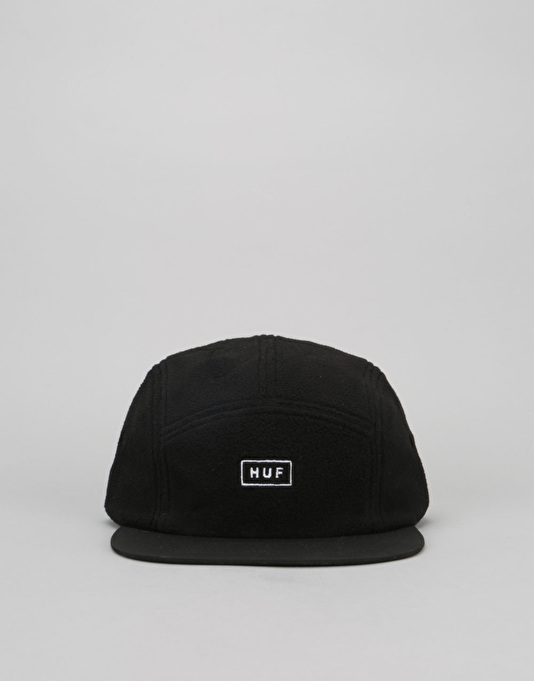 HUF Polar Fleece Volley 5 Panel Cap - Black