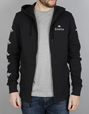 Emerica x Independent Zip Hoodie - Black