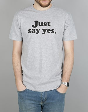 Altamont Just Say Yes T-Shirt - Grey/Heather