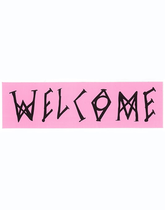 "Welcome 7"" Scrawl Rectangle Sticker"