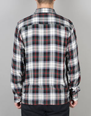 Stüssy Standard Plaid L/S Shirt - White