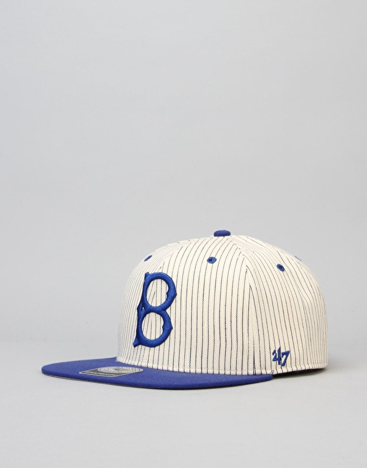 '47 Brand MLB Brooklyn Dodgers Woodside Captain Snapback Cap - Blue