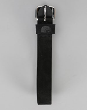 Carhartt C-Logo Leather Belt - Black/Silver