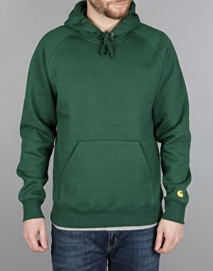 Carhartt Chase Hooded Sweatshirt - Fir/Gold