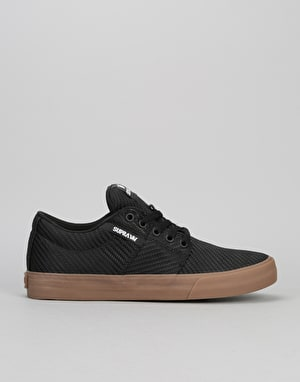 Supra Stacks Vulc II HF Skate Shoes - Black Woven/Gum
