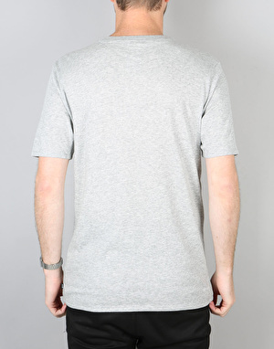 Nike SB Logo T-Shirt - DK Grey Heather/DK Grey Heather/Team Red