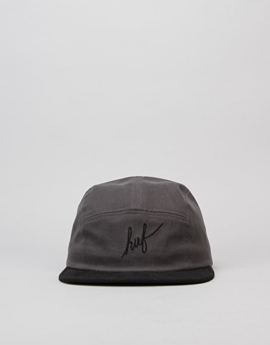 HUF Sanded Twill Volley 5 Panel Cap - Graphite