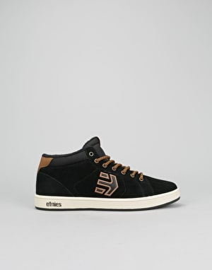 Etnies Fader Mid Top Boys Skate Shoes - Black/Brown