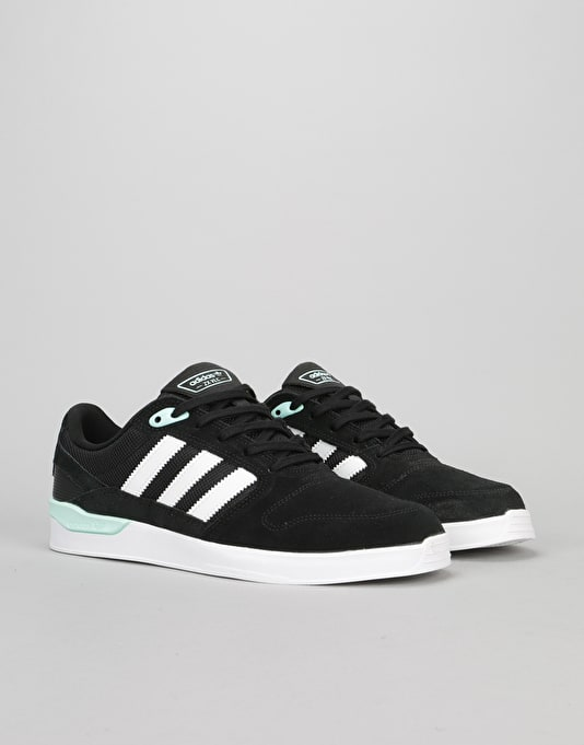 Adidas ZX Vulc Skate Shoes - Black/White/Ice Green