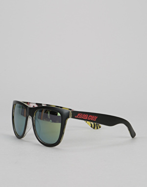 Santa Cruz Rob Eyes Insider Sunglasses - Black/Yellow