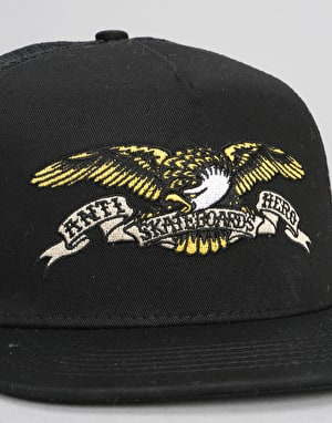 Anti Hero Eagle EMB Trucker Cap - Black