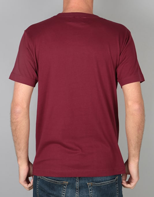 Route One Welsh Arch Logo T-Shirt - Burgundy