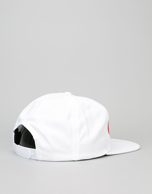 Thrasher Two-Tone Magazine Snapback Cap - White/Red