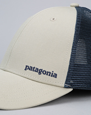 Patagonia Small Text Logo Lo Profile Trucker Cap - Pelican