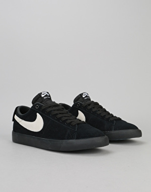 Nike SB Blazer Low GT Skate Shoes - Black/White-Black