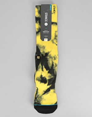 Stance Burnout Classic Crew Socks - Yellow