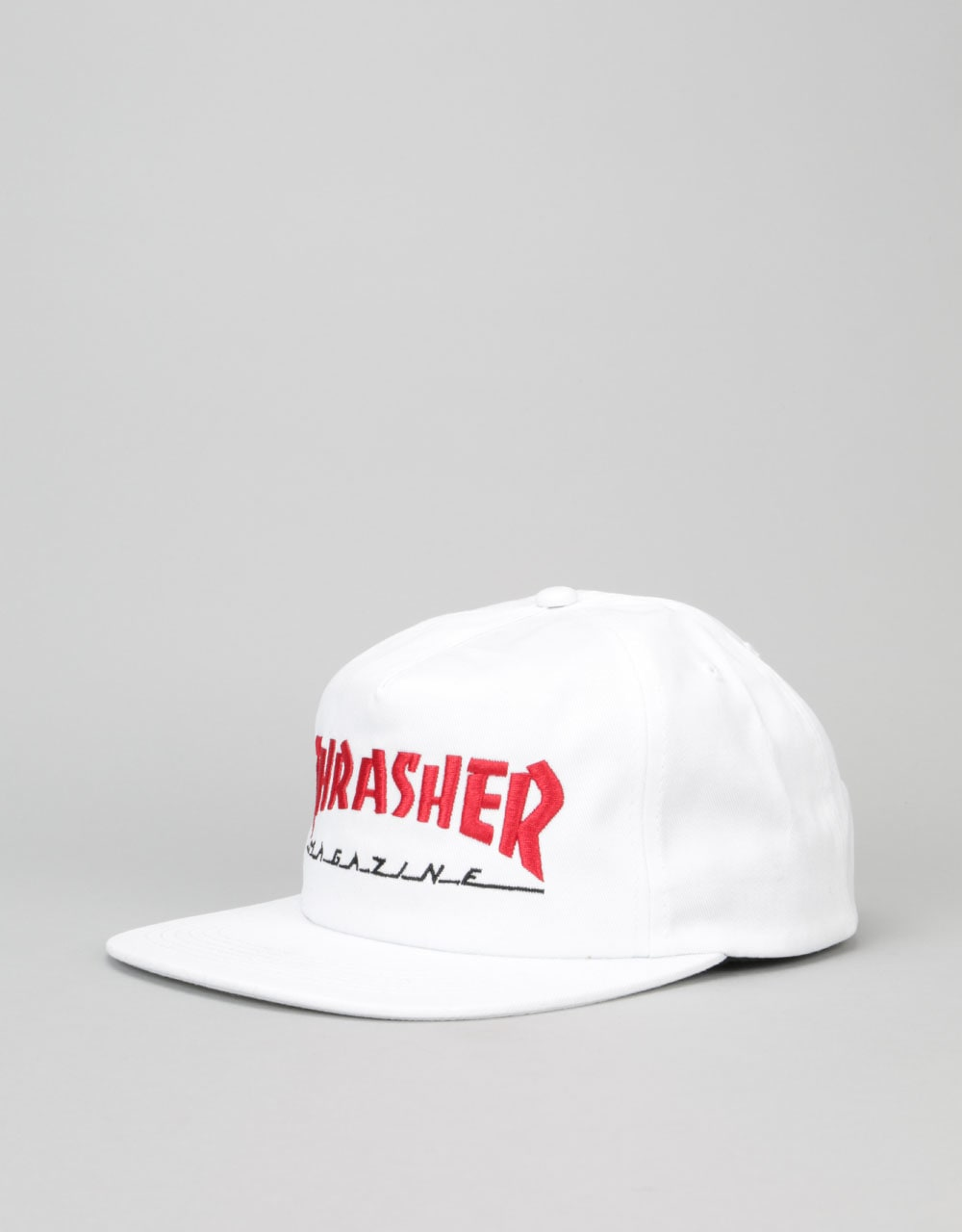 d7e23c4dd9a Thrasher Two-Tone Magazine Snapback Cap - White Red