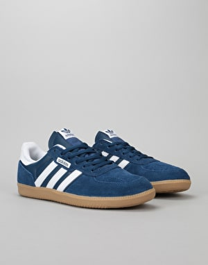 Adidas Leonero Skate Shoes - Mystery Blue/White/Gum