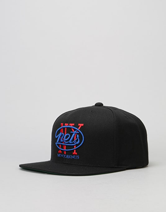 Mitchell & Ness NBA New York Nets Wool Solid Snapback Cap - Black