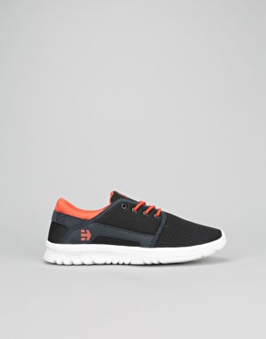 Etnies Scout Boys Skate Shoes - Navy/Red