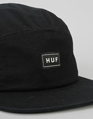 HUF Bar Logo Volley 5 Panel Cap - Black